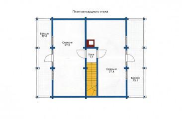 plan mansardnogo etajza